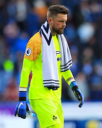 Huddersfield Town goalkeeper Ben Hamer shows his dejection during the Premier League match at the John Smith's Stadium, Huddersfield.