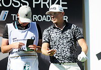 Golf - 2019 BMW PGA Championship - Thursday, First Round<br /> <br /> Matt Wallace of England talks with his caddie, at the West Course, Wentworth Golf Club.<br /> <br /> COLORSPORT/ANDREW COWIE