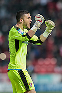 Richard O'Donnell (Rotherham United) celebrates as his team take the lead. 1-0 during the EFL Sky Bet Championship match between Rotherham United and Blackburn Rovers at the AESSEAL New York Stadium, Rotherham, England on 11 February 2017. Photo by Mark P Doherty.