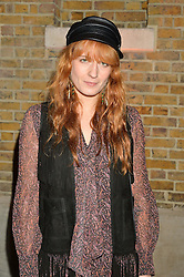 FLORENCE WELCH at the Future Contemporaries Party in association with Coach at The Serpentine Sackler Gallery, West Carriage Drive, Kensington Gardens, London on 21st February 2015.