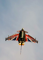RAF Typhoon Anarchy 1 with New Union Jack Livery at the Midlands Air Festival Photo by Chris wynne