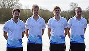 Caversham. Berkshire. UK<br /> GBR LM4-, left Chris BARTLEY, Mark ALDRED, Jonno CLEGG and Peter CHAMBERS.<br /> 2016 GBRowing European Team Announcement,  <br /> <br /> Wednesday  06/04/2016 <br /> <br /> [Mandatory Credit; Peter SPURRIER/Intersport-images]