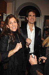 VERONICA TOUB and CROWN PRINCE PAVLOS OF GREECE at a party hosted by Allegra Hicks to launch Lapo Elkann's fashion range in London held at Allegra Hicks, 28 Cadogan Place, London on 14th November 2007.<br />