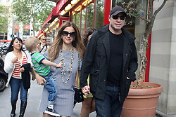 File photo - John Travolta, his wife Kelly Preston and their son Benjamin leave Hotel George V and head to Pizza Pino restaurant for lunch on the Champs Elysees in Paris, France on September 12, 2012. Whilst leaving the restaurant, John stops by his fans and signs some autographs. Kelly Preston, the actress married to John Travolta, has died after a private battle with breast cancer, aged 57. The actress had been battling against breast cancer for two years, with a family representative confirming news of her passing to People today. Photo by ABACAPRESS.COM