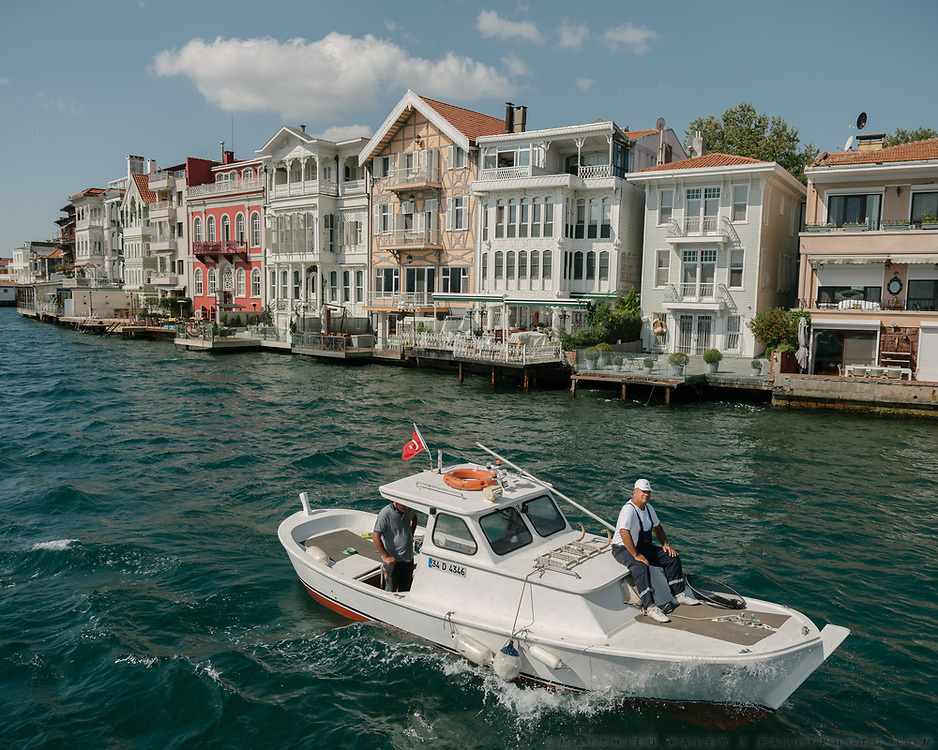Boat trip along the Bosphorus river, watching the Yali, those mansion constructed at immediate waterside.