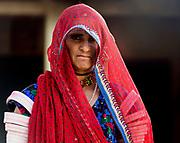 Colourful woman. Rajasthan, India.