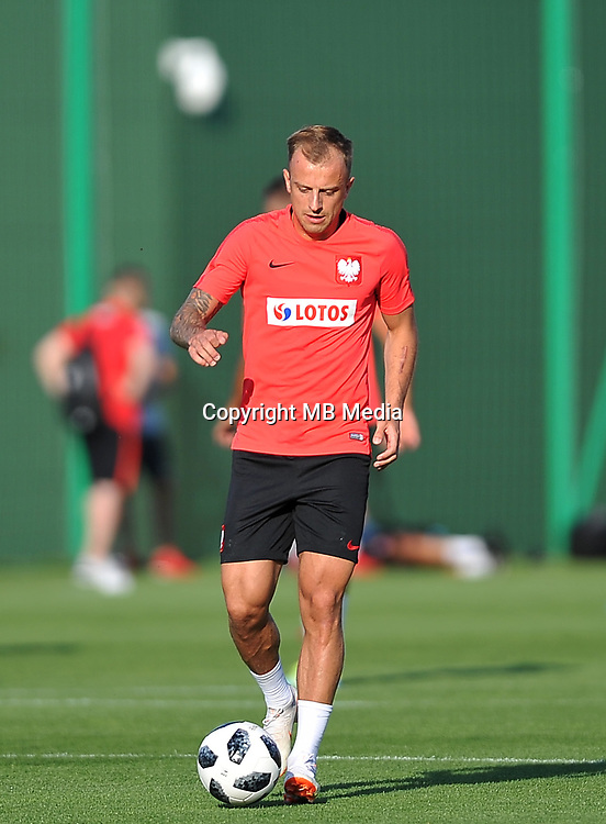 ARLAMOW, POLAND - MAY 31: Kamil Grosicki during a training session of the Polish national team at Arlamow Hotel during the second phase of preparation for the 2018 FIFA World Cup Russia on May 31, 2018 in Arlamow, Poland. (MB Media)