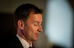 © Licensed to London News Pictures. File picture dated 26/04/2012.  Secretary of State for Culture, Olympics, Media and Sport JEREMY HUNT who is to be investigated by the Parliamentary Standards Commissioner over claims he failed to register donations from media firms, it has been announced. Photo credit : Ben Cawthra/LNP
