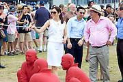 Prince Frederik & Princess Mary visit Sculpture by the Sea exhibition, Bondi, Sydney, Australia.