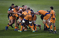 Rugby Union - 2020 / 2021  European Rugby Challenge Cup - Semi-final - Bath vs Montpellier - Recreation Ground<br /> <br /> Montpellier's Florian Verhaeghe (headband) drives a maul.<br /> <br /> COLORSPORT/ASHLEY WESTERN