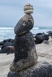 Balancing Rock Tower On Kona Beach