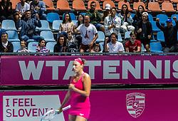 PORTOROZ, SLOVENIA - SEPTEMBER 18: Supporters at doubles semifinal  during the WTA 250 Zavarovalnica Sava Portoroz at SRC Marina, on September 18, 2021 in Portoroz / Portorose, Slovenia. Photo by Vid Ponikvar / Sportida