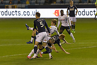 Football - Sky Bet Championship - Millwall vs Luton Town - The Den<br /> <br /> A clash in the centre of the pitch as bodies go flying after an aerial ball<br /> <br /> COLORSPORT/DANIEL BEARHAM