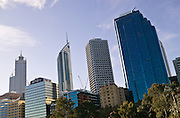 Modern Perth Skyline, reflecting the wealth generated by the minerals boom.