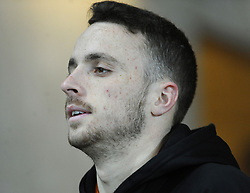 Diogo Jota of Wolverhampton Wanderers arrives at the Liberty Stadium - Mandatory by-line: Nizaam Jones/JMP- 17/01/2018 - FOOTBALL - Liberty Stadium- Swansea, Wales - Swansea City v Wolverhampton Wanderers - Emirates FA Cup third round proper