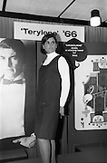 08/02/1966<br /> 02/08/1966<br /> 08 February 1966<br /> Fashion Show at I.C.I. Hawkins House. Lorna wearing Tartan pinafore worn with Bri-Nylon polo-neck jumper.