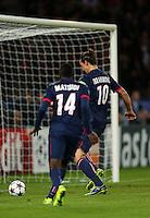 Zlatan Ibrahimovic of PSG - Paris St Germain scores a goal to make it 1-1