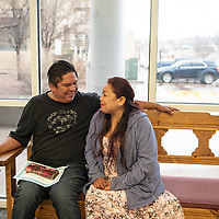 Christopher John and Melvina Yazzie traveled from Twin Lakes to marry in the McKinley County Courthouse on Valentines Day, Thursday, Feb. 14.