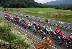 Peloton during Stage 4 of 23rd Tour of Slovenia 2016 / Tour de Slovenie from Rogaska Slatina to Novo mesto (165,5 km) cycling race on June 19, 2016 in Slovenia. Photo by Vid Ponikvar / Sportida