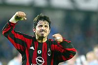 Fotball, 4. november 2003, Champions League,, Club Brugge ( Brügge )-Milan 0-1, Ivan Gennaro Gattuso, Milan