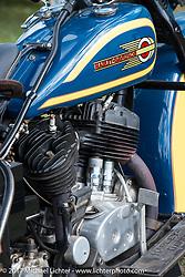 Harley-Davidson Flathead detail taken at the AMCA (Antique Motorcycle Club of America) Sunshine Chapter National Meet in New Smyrna Beach during Daytona Beach Bike Week. FL. USA. Saturday March 11, 2017. Photography ©2017 Michael Lichter.