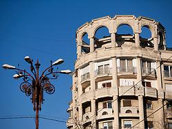 Communist era residential building on Boulevard Unirii   in Bucharest Romania