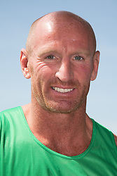 © Licensed to London News Pictures. 27/07/2013. London, UK. Gareth Thomas at the London Triathlon 2013 at the ExCel centre in Royal Victoria Dock in East London. Photo credit : Vickie Flores/LNP