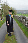 """18/04/2017 REPRO FREE:  <br /> Post Back Student Morgan Whitehead who graduated from at the 13th conferring ceremony, held in the Minstrels gallery the 16th century Newtown Castle at the heart of the BCA campus, exemplifies the continued success of the Burren's  alternative model of art education . The Irish and  international graduates included Elizabeth Matthews, conferred with  a PhD for her research on Utopian studies , and six international graduates whose work on display in the BCA gallery addressed the ultimate question, """"who am I called to be"""" In her address President of the college Mary Hawkes Greene referred to the unique place based educational  model  committed to  individual student centred  education accredited by NUIGalway , and how it effectively  embraces the often conflicting forces of the global and the local, the public and the private as well as the collective and the individual. <br /> .  Photo:Andrew Downes, xposure"""