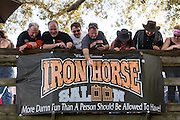 Bikers at the Iron Horse Saloon during the 74th Annual Daytona Bike Week March 8, 2015 in Ormond Beach, Florida. More than 500,000 bikers and spectators gather for the week long event, the largest motorcycle rally in America.