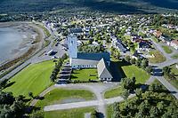 Bjerkvik kirke ligger i Bjerkvik i Narvik kommune i Nordland. Kirka er ei langkirke i betong og tegl med 320 sitteplasser. Den ble vigslet den 14. august 1955 av biskop Wollert Krohn-Hansen. Arkitekter for kirka var Arnstein Arneberg og Per Solemslie. Dronefoto.