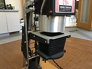 Omega D2 Enlarger showing location of holder placement, below the collimating lens.