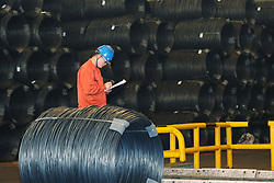 November 2, 2018 - Dalian, Dalian, China - Dalian,CHINA-Workers at Dongbei Special Steel Group in Dalian, northeast China's Liaoning Province. (Credit Image: © SIPA Asia via ZUMA Wire)