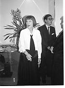 LADY CLARE RENDLESHAM. Anna Piaggi book party. New Bond St. London. 12 April 1986. SUPPLIED FOR ONE-TIME USE ONLY> DO NOT ARCHIVE. © Copyright Photograph by Dafydd Jones 248 Clapham Rd.  London SW90PZ Tel 020 7820 0771 www.dafjones.com