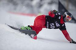 Matej Baco (SVK) during Final Run at Parallel Giant Slalom at FIS Snowboard World Cup Rogla 2019, on January 19, 2019 at Course Jasa, Rogla, Slovenia. Photo byJurij Vodusek / Sportida