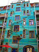 Building That Plays Music When It Rains<br /> <br /> Not only is this beautiful, but it also plays music when it rains. This building is located in Dresden, Germany. It's called Neustadt Kunsthofpassage. And when it rains it starts to play music. when the rain starts to fall, this colourful drain and gutter system attached to the outside of a building in the Neustadt Kunsthofpassage turn into charming musical instruments. The Funnel Wall is one of the strangest and most enjoyable attractions in Dresden's student district in the new town. The Neustadt Kunsthofpassage, is an artsy neighborhood in Dresden, Germany. Somebody had the genius idea to cover one wall with funnels and gutters shaped like musical instruments that capture water as it runs off the building into this elaborate drainage system. <br /> Can you imagine the noise during a thunderstorm!<br /> ©Exclusivepix