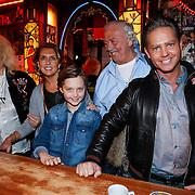 NLD/Amsterdam/20130311 - CD presentatie jubileum cd Danny de Munk, Danny, partner Jenny Sluyter en zoon Davey met Rooie Sien en Rooie Nelis