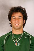 University of Miami Men's Tennis Photo Day,  December 4, 2006.
