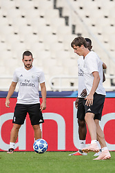 October 2, 2018 - Na - Athens, 10/01/2018 - Sport Lisboa e Benfica held the training to adapt to the pitch of the Olympic Stadium in Athens for the game of the second day of the Champions League 2018/2019 against the AEK of Athens. Zivkovic and Conti  (Credit Image: © Atlantico Press via ZUMA Wire)