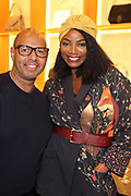 New York, NY-November 3: (L-R) Emil Welbekin, Founder, Native Son and Media Personality Tai Beauchamp attend the Native Son Community Give Back Reception benefiting the Stonewall Community Foundation and other LGBTQ organizations hosted by Emil Welbekin held at Byredo on November 3, 2017 in New York City.  (Photo by Terrence Jennings/terrencejennings.com)