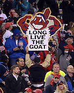 CLEVELAND, OH - OCTOBER 25: Cleveland Indians fans during Game 1 of the 2016 World Series against the Chicago Cubs at Progressive Field on Tuesday, October 25, 2016 in Cleveland, Ohio. (Photo by Ron Vesely/MLB Photos via Getty Images)
