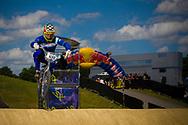 #108 (SANTILLAN Hernan) ARG at the UCI BMX Supercross World Cup in Papendal, Netherlands.