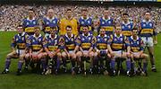 All Ireland Senior Hurling Championship - Final, .14.09.1997, 09.14.1997, 14th September 1997, .14091997AISHCF,.Senior Clare v Tipperary .Tipperary 2-16, Wexford 0-15,.Minor Clare v Galway, ..Tipperary Senior Team, Back row from left, Thomas Dunne, Noel Sheehy, Brendan Cummins, Conor Gleeson, Brian O'Meara, Liam Sheehy, Liam McGrath, Front row from left, Michael Cleary, Eugene O'Neill, Colm Bonnar, Michael Ryan, Paul Shelly, John Leahy, Declan Ryan, Conal Bonnar, ..MFP, Lucan Co Dublin,