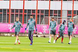 14.03.2019, Säbener Strasse, Muenchen, GER, 1. FBL, FC Bayern Muenchen vs 1. FSV Mainz 05, Training, im Bild v.l. Joshua Kimmich (FC Bayern), Sven Ulreich (FC Bayern), Niklas Süle (FC Bayern), Kingsley Coman (FC Bayern), Manuel Neuer (FC Bayern) // during a trainings session before the German Bundesliga 26th round match between FC Bayern Muenchen and 1. FSV Mainz 05 at the Säbener Strasse in Muenchen, Germany on 2019/03/14. EXPA Pictures © 2019, PhotoCredit: EXPA/ Lukas Huter