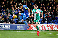 AFC Wimbledon midfielder Andy Barcham (17) during the EFL Sky Bet League 1 match between AFC Wimbledon and Plymouth Argyle at the Cherry Red Records Stadium, Kingston, England on 26 December 2018.