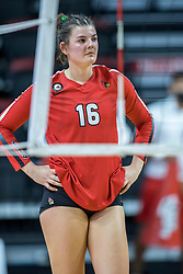 BLOOMINGTON, IL - October 23: Nicole Lund  during a college Women's volleyball match between the ISU Redbirds and the Drake Buldogs on October 23 2021 at Illinois State University in Normal, IL. (Photo by Alan Look)
