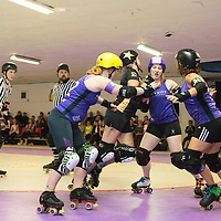 Rainy City Roller Derby Tender Hooligans take on NRD Whippin' Hinnies at The Thunderdome, King Street, Oldham, 2016-09-24