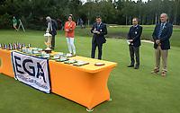 HILVERSUM - prizegiving.    ELTK Golf 2020 The Dutch Golf Federation (NGF), The European Golf Federation (EGA) and the Hilversumsche Golf Club will organize Team European Championships for men.  COPYRIGHT KOEN SUYK