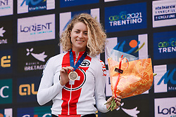 Marlen Reusser (SUI) third at the 2020 UEC Road European Championships - Elite Women ITT, a 25.6 km individual time trial in Plouay, France on August 24, 2020. Photo by Sean Robinson/velofocus.com