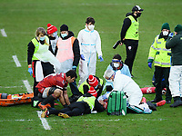 Rugby Union - 2020 / 2021 Gallagher Premiership - Gloucester vs Northampton Saints - Kingsholm<br /> <br /> Gloucester's Matias Alemanno looks on as Santiago Carreras receives oxygen after a clash of heads with Northampton Saints' George Furbank.<br /> <br /> COLORSPORT/ASHLEY WESTERN