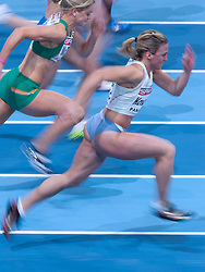 NINA KOVACIC (SLOVENIA) COMPETES IN WOMEN'S 60 METERS QUALIFICATION DURING EUROPEAN ATHLETICS INDOOR CHAMPIONSHIPS PARIS 2011 AT BERCY HALL...PARIS , FRANCE , MARCH 05, 2011..( PHOTO BY ADAM NURKIEWICZ / MEDIASPORT )..PICTURE ALSO AVAIBLE IN RAW OR TIFF FORMAT ON SPECIAL REQUEST.